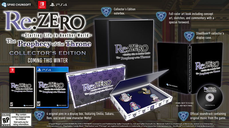 Re ZERO The Prophecy of The Throne Collectors Edition