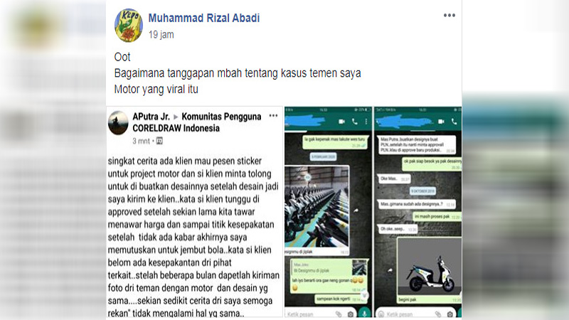 screenshot curhatan APutra Jr