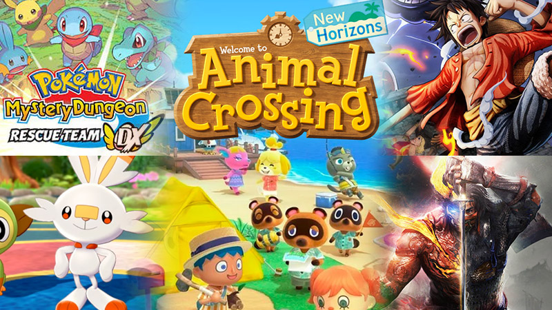 game console paling laku Animal Crossing New Horizons Nioh 2 pokemon sword & shield Pokemon Mystery Dungeon Rescue Team DX One Piece: Pirate Warriors 4