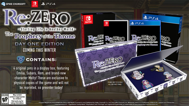Re ZERO The Prophecy of The Throne The Day One Edition