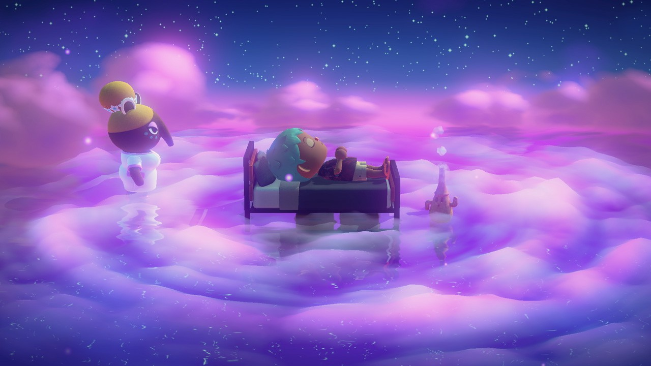 Animal Crossing: New Horizons Update Musim Panas Kembang Api Luna In Dream