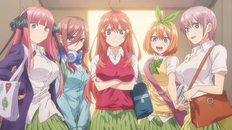 Anime The Quintessential Quintuplets Netflix September 2020