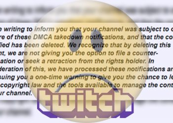Streamer Twitch DMCA